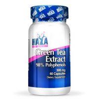 Extracto de Té Verde 500mg envase de 60 cápsulas de la marca Haya Labs (Antioxidantes)