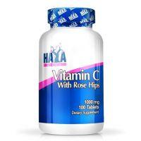 Vitamina C con Rose Hips de Alto Grado 1000mg de 100 tabletas del fabricante Haya Labs (Vitaminas)