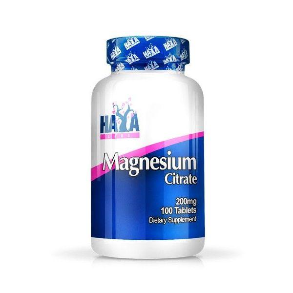 Citrato de Magnesio 200mg envase de 100 tabletas de Haya Labs (Minerales)