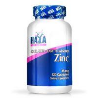 Zinc 15mg envase de 120 cápsulas de la marca Haya Labs (Minerales)