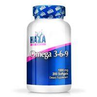 Omega 3-6-9 1000mg envase de 200 softgels del fabricante Haya Labs