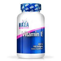 Vitamina E 400IU de 100 softgels de la marca Haya Labs (Salsas Saladas Sin Calorias)