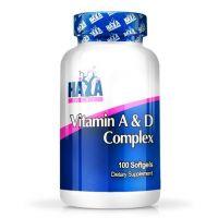 Complejo de Vitamina A y D de 100 softgels de la marca Haya Labs (Vitaminas)