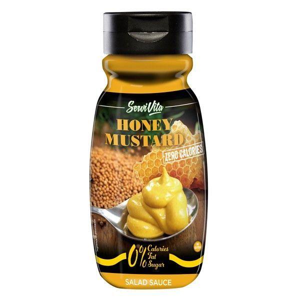 Salsa de Miel y Mostaza 0% envase de 305ml de la marca Servivita (Salsas Saladas Sin Calorias)