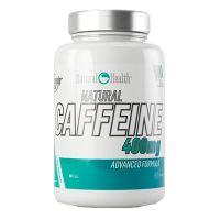 Cafeina Natural 400mg envase de 90 cápsulas de la marca Natural Health (Quemadores)