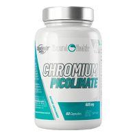 Picolinato de Cromo 600mg de 60 cápsulas de la marca Natural Health (Otros Quemadores)
