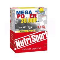 Mega power envase de 4.4kg 40 sobres de la marca Nutrisport (Ganadores de Peso con proteína)
