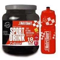 Sport drink con cafeina de 990g + botella de la marca Nutrisport (Bebidas Isotónicas)