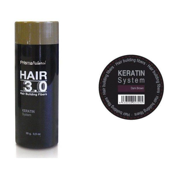 Hair 3.0 buildiing fibers Castaño Oscuro de Prisma Natural