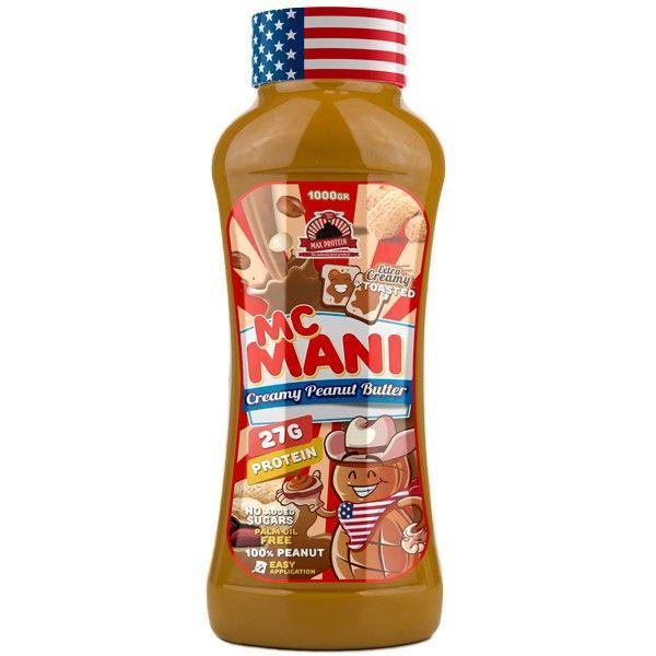 McMani envase de crema de cacahuete del fabricante Max Protein (Cremas de Cacahuete)