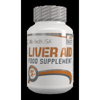 Liver Aid envase de 60 tabletas de la marca Biotech USA (Protectores Hepáticos)