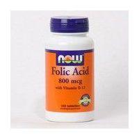 Ácido Fólico de 250 tabletas de la marca Now Foods (Especial Mujer)