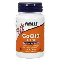 Coq10 100mg envase de 50 softgels de la marca Now Foods (Antioxidantes)