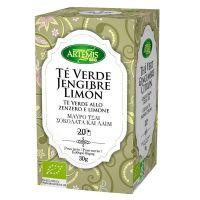 Infusión de Té Verde, Jengibre y Limón de 20 sobres del fabricante Artemis BIO (Infusiones y tisanas)