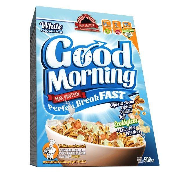 Good Morning envase de desayuno perfecto de la marca Max Protein (Cereales y Legumbres)