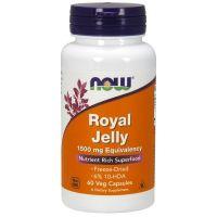Jalea Real 1500mg envase de 60 cápsulas vegetales de Now Foods (Sistema Inmunológico)