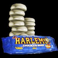 Harlems envase de rosquillas crujientes del fabricante Max Protein (Panaderia Dietetica)