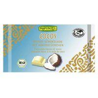 Snack de chocolate blanco con coco rapunzel envase de 100g del fabricante Biocop (Dulces y galletas)