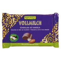 Snack de Chocolate con Leche con Almendras Rapunzel de 100g de Biocop (Dulces y galletas)
