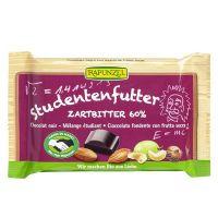 Snack de chocolate negro 60% con frutos secos rapunzel envase de 100g del fabricante Biocop (Dulces y galletas)