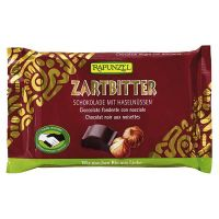 Snack de chocolate negro con avellanas rapunzel - 100g
