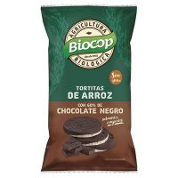 Rice cakes with black choco coverage - 100g