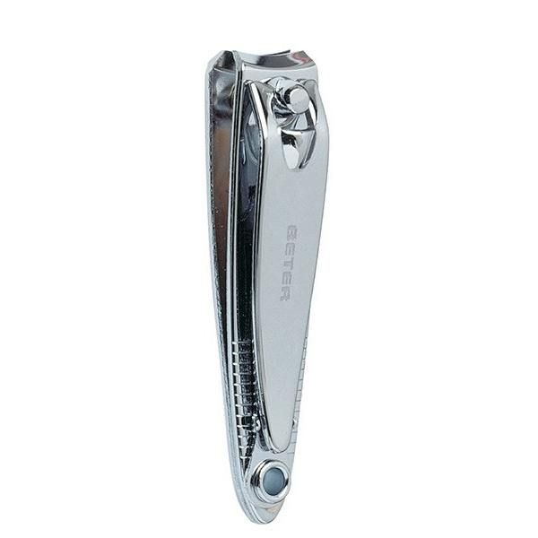 Chrome plated manicure nail clippers with nail file - 5,8 cm