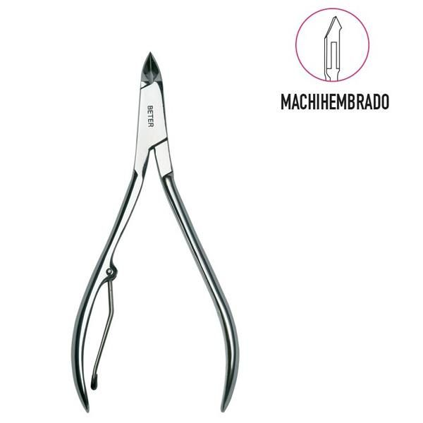 Dovetail joint, chrome plated manicure cuticle nippers - 10 cm