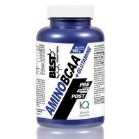 Amino BCAAs + Glutamina envase de 150 cápsulas del fabricante Best Protein (BCAA + Glutamina)