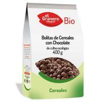 Bolitas de Cereales con Chocolate Bio envase de 400 g de El Granero Integral (Cereales y Legumbres)