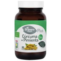 Cúrcuma + Pimienta Bio de 60 cápsulas del fabricante El Granero Integral (Mejora General)