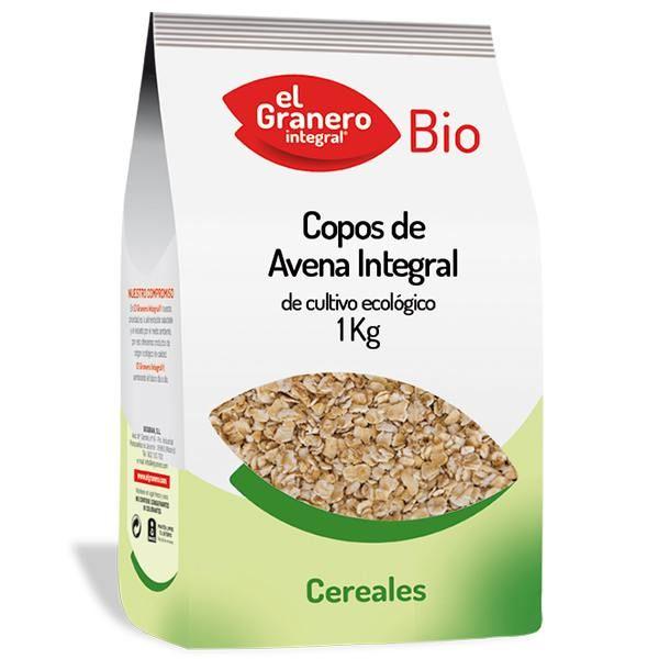Copos de Avena Integral Bio de 1 kg del fabricante El Granero Integral (Cereales y Legumbres)