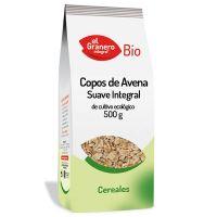 Copos Suaves de Avena Integral Bio envase de 500 g del fabricante El Granero Integral (Cereales y Legumbres)
