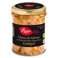 Filetes de Salmón Bio envase de 195g de la marca El Granero Integral (Alimentación Saludable)
