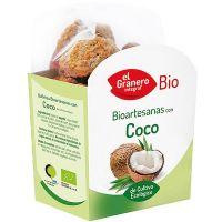 Galletas Artesanas con Coco Bio envase de 220 g de la marca El Granero Integral (Galletas Proteicas  Bajas en Calorias)