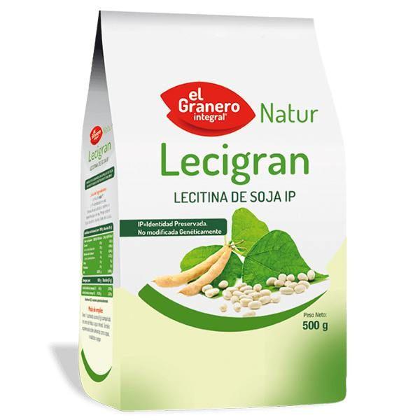 Lecigran Lecitina de Soja IP no GMO envase de 500 g del fabricante El Granero Integral (Cereales y Legumbres)