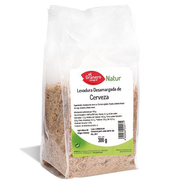 LEVADURA DE CERVEZA DESAMARGADA envase de 300 g de El Granero Integral (Cereales y Legumbres)
