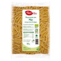Macarrones con Mijo Bio envase de 500 g de la marca El Granero Integral (Pasta)