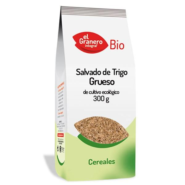 Salvado de Trigo Grueso Bio envase de 300 g de la marca El Granero Integral (Cereales y Legumbres)