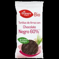 Tortitas de Arroz con Chocolate Negro Bio envase de 6 unidades de El Granero Integral (Pancakes, Tortillas y Creps)
