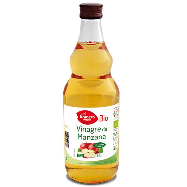 Vinagre de manzana Bio envase de 75 cl de la marca El Granero Integral (Aderezos y Sazonadores bajos en Sodio)