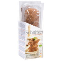 Baguette de semillas sin gluten bio envase de 320 g de la marca Schnitzer (Panaderia Dietetica)