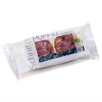 Muffins de arándanos sin gluten bio de 140 g del fabricante Schnitzer (Repostería acaloríca y proteica)