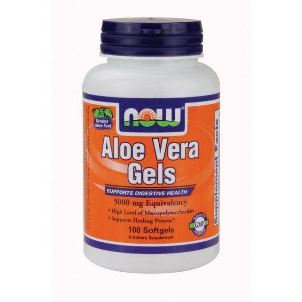 Aloe Vera 5000mg envase de 100 softgels de Now Foods (Mejora General)