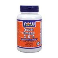 Super Omega 3-6-9 de 90 cápsulas de la marca Now Foods (Fuente Animal)