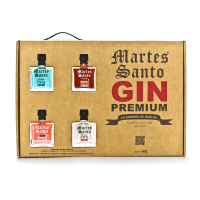 Case with 4 mini gins