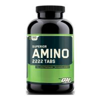 Superior Amino 2222 envase de 160 tabletas de la marca Optimum Nutrition (Esenciales e Hidrolizados)