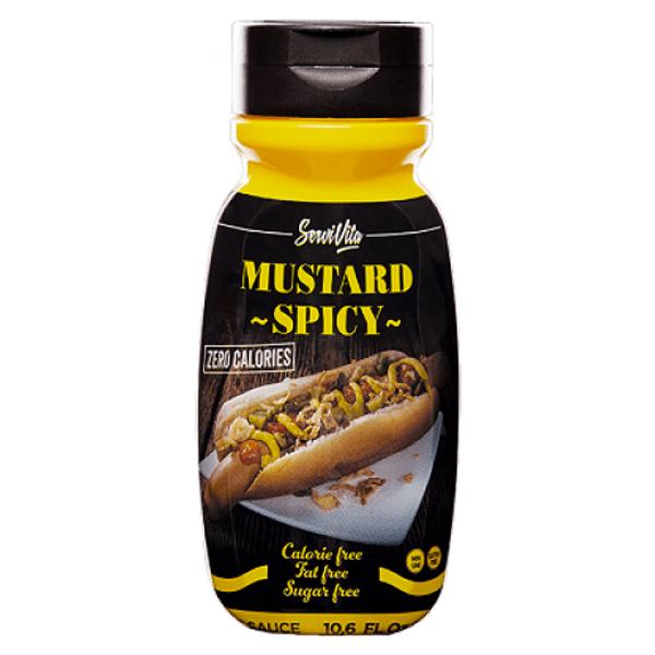 Salsa de Mostaza Picante 0% envase de 305ml de la marca Servivita (Salsas Saladas Sin Calorias)