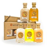 Box with 5 special liquors mini