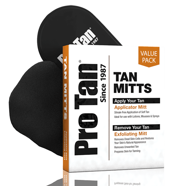 Pack tan mitts (applicator & exfoliating)